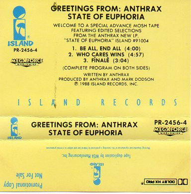 Anthrax - Greetings From: Anthrax State Of Euphoria
