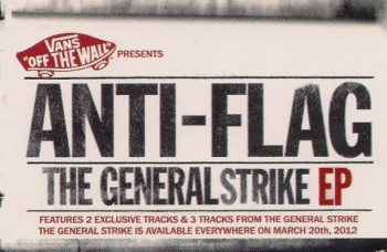 Anti flag - Vans Presents: The General Strike  EP