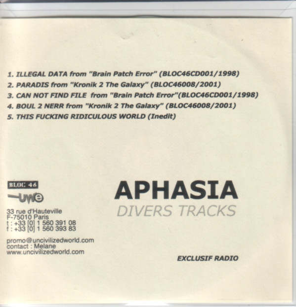Aphasia - Divers Tracks