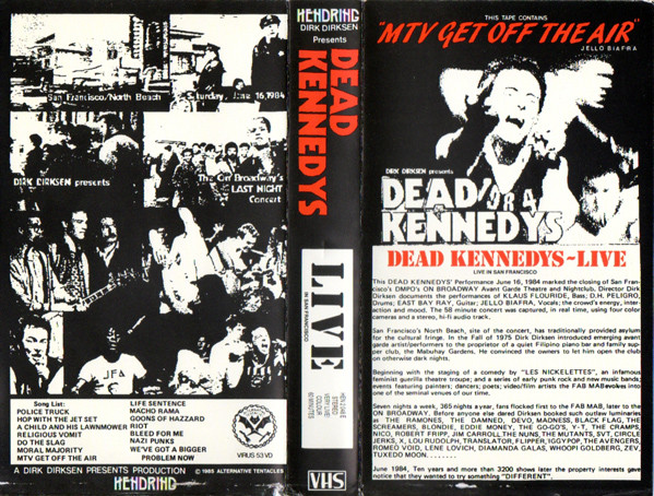 Dead Kennedys - Live In San Francisco