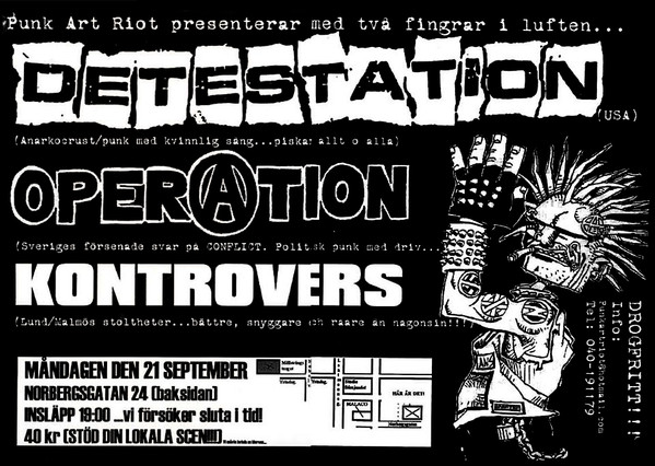 Detestation - Punk Art Riot