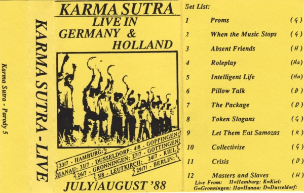 Karma Sutra - Live In Germany & Holland July/August