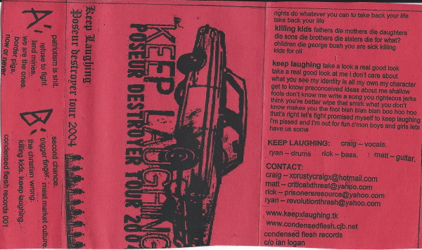 Keep Laughing - Poseur Destroyer Tour 2004