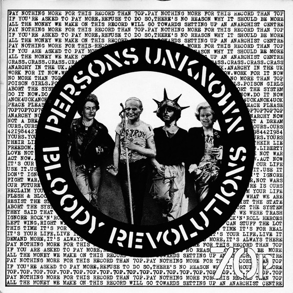Poison Girls - Bloody Revolutions / Persons Unknown