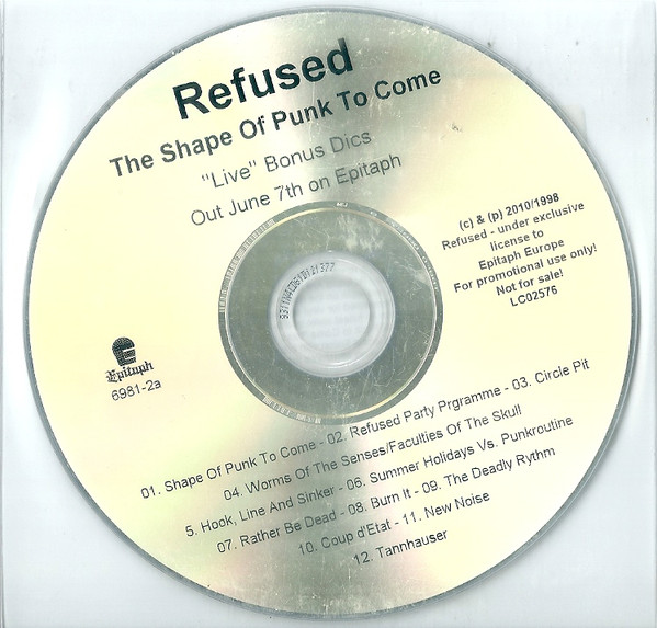 "Refused - The Shape Of Punk To Come (""Live"" Bonus Disc)"