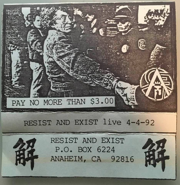 Resist And Exist - Live 4-4-92