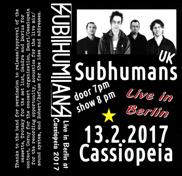 Subhumans - Live in Cassiopeia