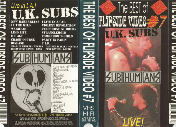 Subhumans - The Best Of Flipside Video # 7