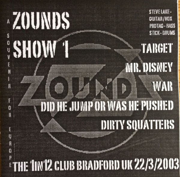 Zounds - Show 1 - A Souvenir For Europe